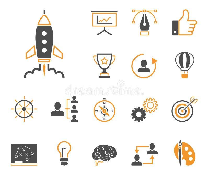 Strategi & kreativitet - Iconset - symboler royaltyfri illustrationer