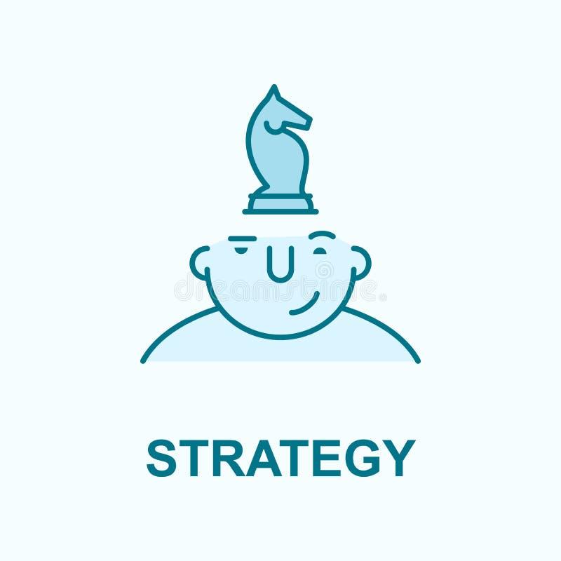 strategi på symbol för meningsfältöversikt vektor illustrationer