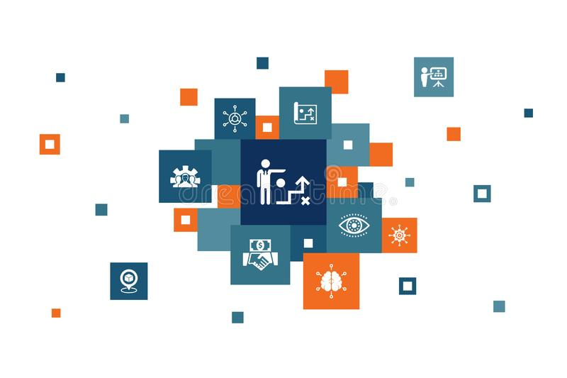 Strategia biznesowa — informacje 10 kroków ilustracji