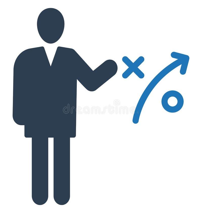 Strategia biznesowa, biznesmen Odizolowywająca Wektorowa ikona może być łatwo redaguje i modyfikuje ilustracji