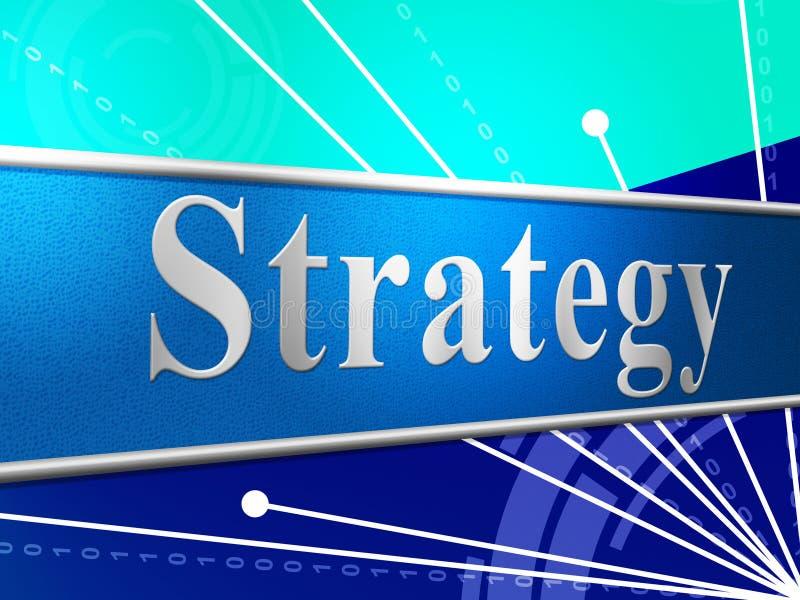 Strategia Biznesowa Pokazuje Handlowych Biz I wzrok ilustracji