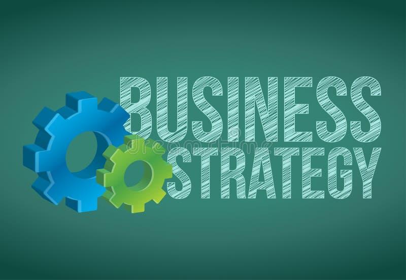 Strategia Biznesowa ręcznie pisany z biel kredą royalty ilustracja