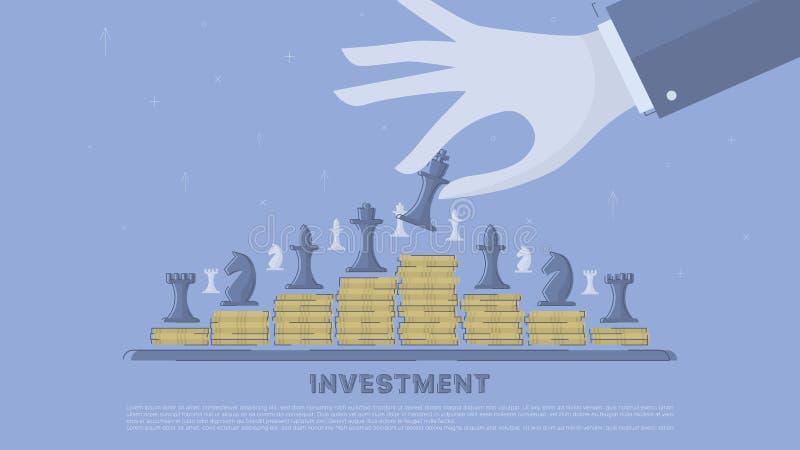 Strategia dell'investimento illustrazione di stock