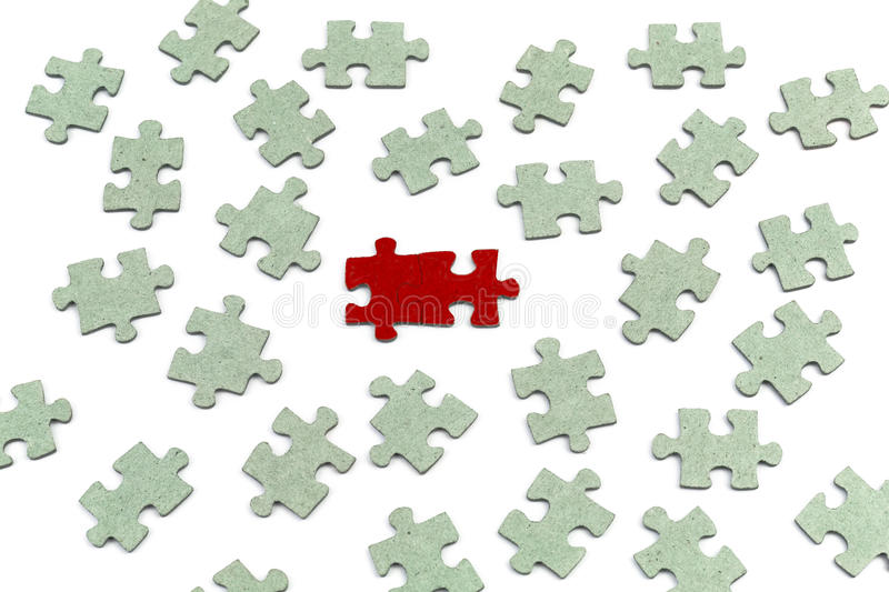 Strategia di concetto di puzzle, concetto di affari fotografia stock