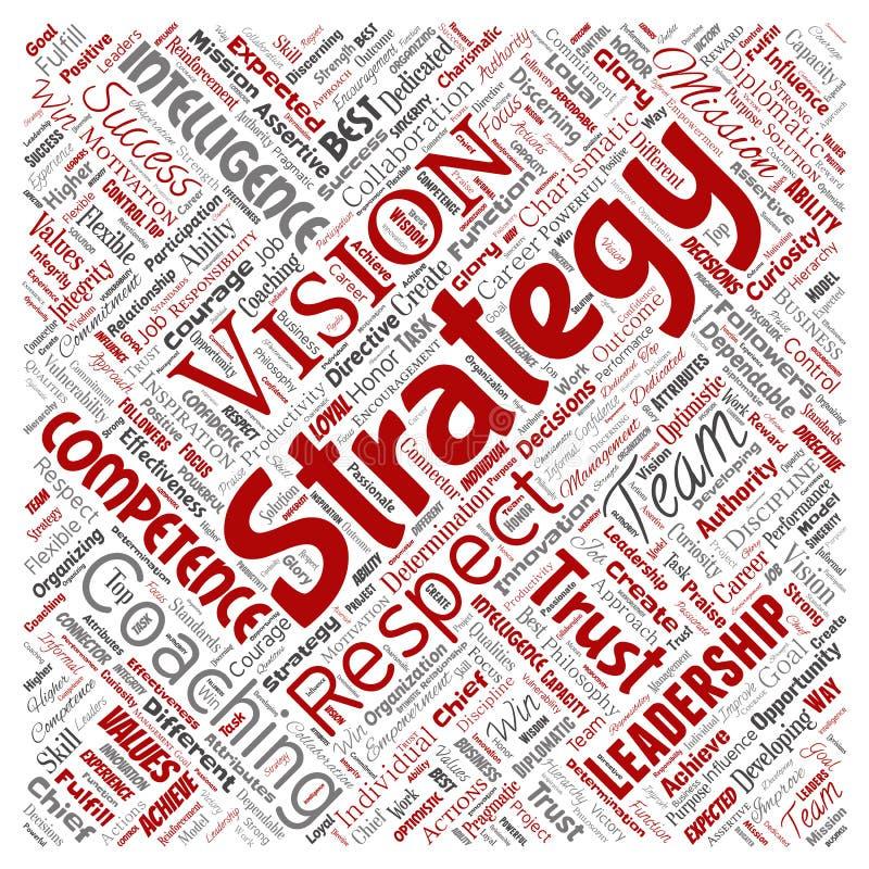Strategia di direzione di affari di vettore, valore della gestione illustrazione di stock
