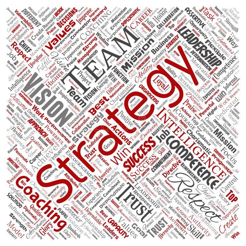 Strategia di direzione di affari di vettore, valore della gestione royalty illustrazione gratis