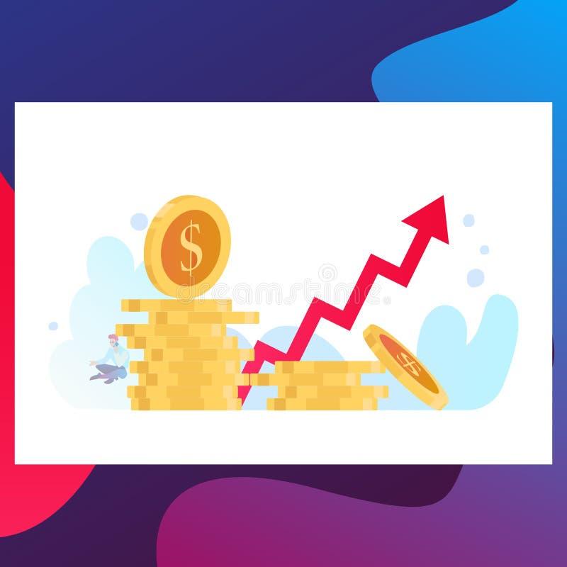 Strategia di economia dello sviluppo della Banca Soluzioni di commercio per gli investimenti, concetto di analisi royalty illustrazione gratis