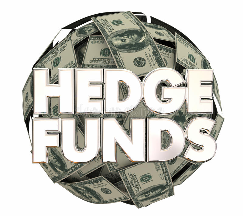 Strategia di investimento 3d Illustrati dei soldi del mercato azionario di Hedge Funds illustrazione di stock