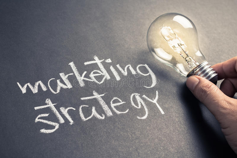 Strategia di marketing fotografia stock