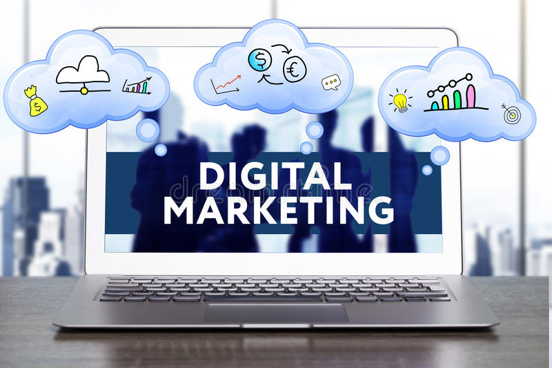 Strategia di marketing Concetto di strategia di pianificazione Affare, technol fotografia stock
