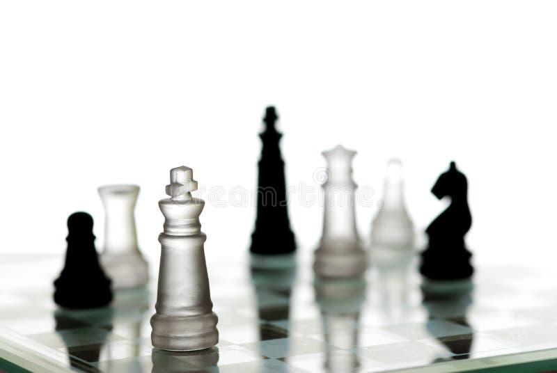 Strategia di scacchi fotografia stock