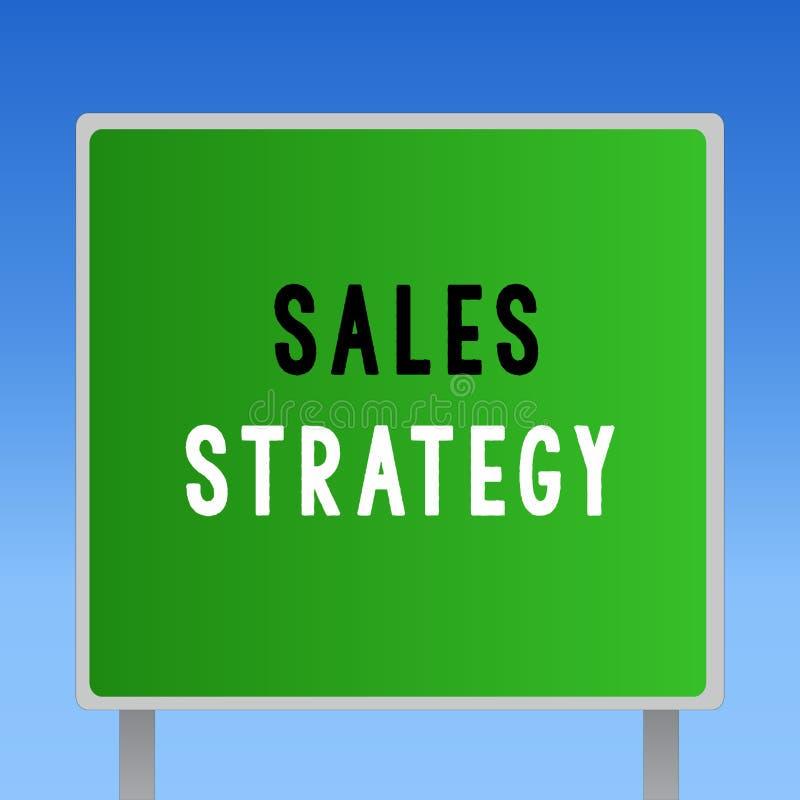 Strategia di vendite del testo di scrittura di parola Concetto di affari per il piano per il raggiungimento e la vendita alla vos fotografie stock
