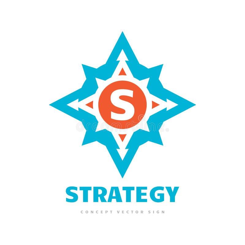 Strategia listowy S - poj?cie logo szablonu wektoru biznesowa ilustracja Cyrklowy kreatywnie znak Wzrasta? wiatrow? podr??y ikon? royalty ilustracja