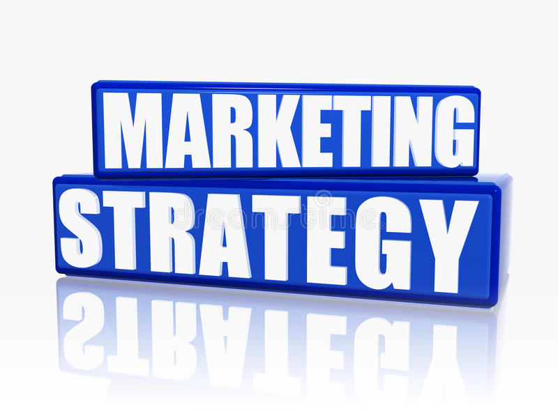 strategia marketingowa royalty ilustracja