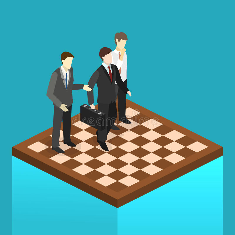 Strategia piana isometrica del mercato aziendale del orporate di concetto 3D royalty illustrazione gratis