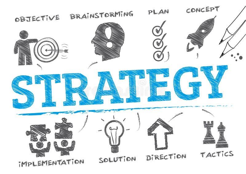 Strategia plan również zwrócić corel ilustracji wektora royalty ilustracja
