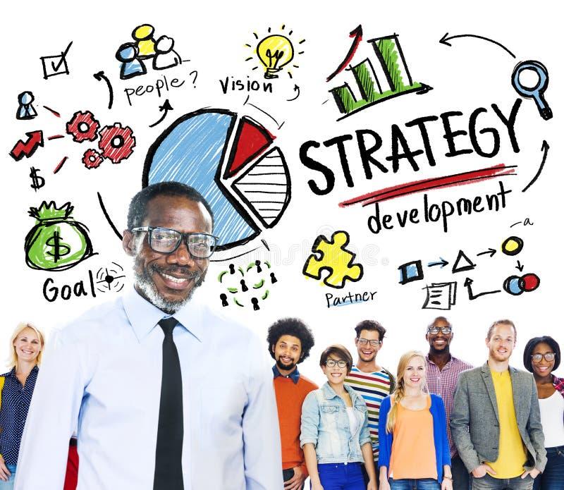 Strategia rozwoju Marketingowego planowania biznesu Bramkowy pojęcie zdjęcie stock