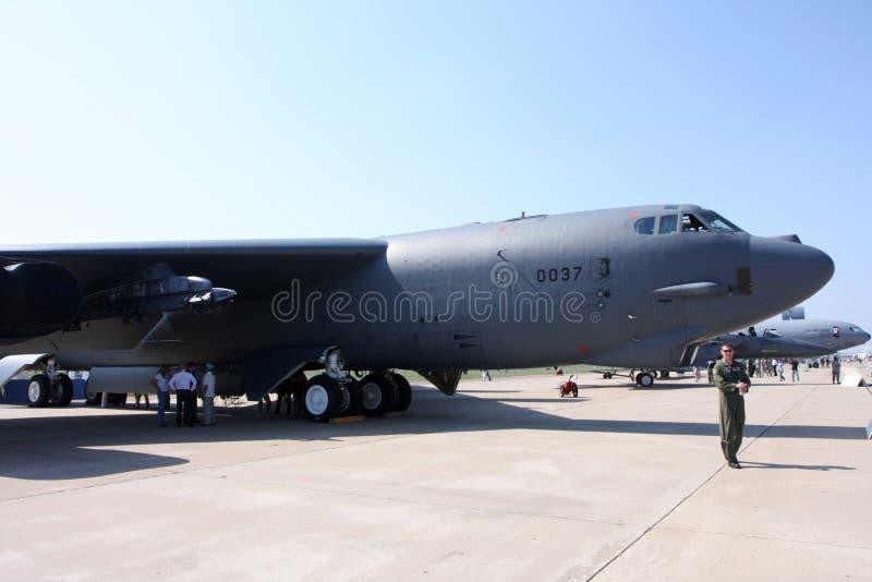 Strategic bomber B-52 `` Strafordtress. Rossiya.16 August 2011 10th International Aviation and Space Salon MAKS-2011 ``. This photo shows a strategic bomber B stock photography