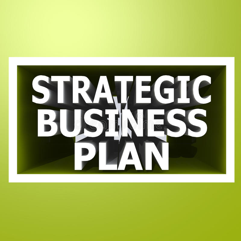 Strategic business plan. Image with hi-res rendered artwork that could be used for any graphic design vector illustration