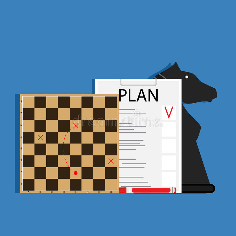 Strategic business plan royalty free illustration