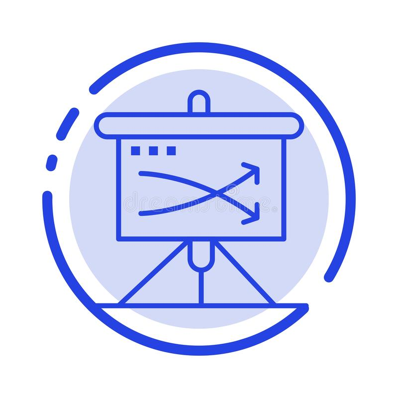 Strategic, Business, Plan, Planning, Graph Blue Dotted Line Line Icon royalty free illustration