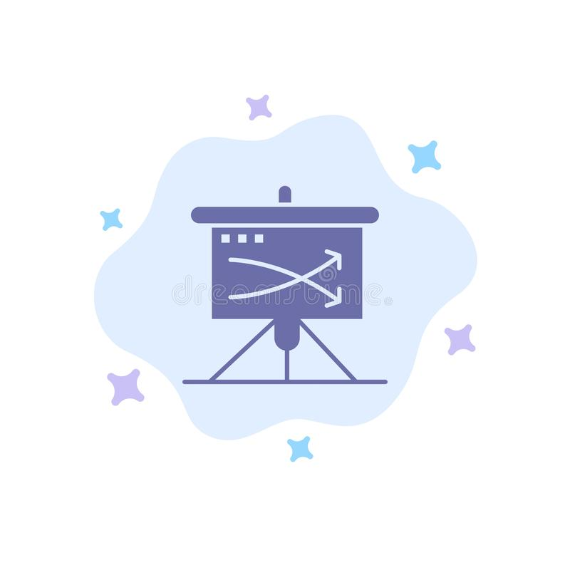 Strategic, Business, Plan, Planning, Graph Blue Icon on Abstract Cloud Background stock illustration