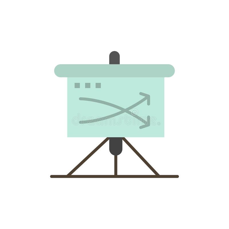 Strategic, Business, Plan, Planning, Graph  Flat Color Icon. Vector icon banner Template stock illustration