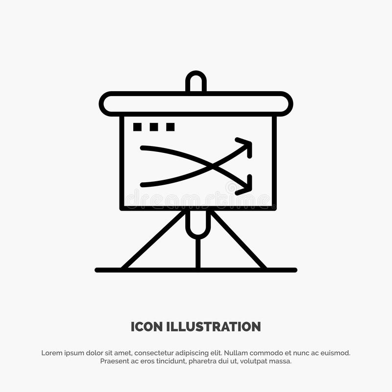 Strategic, Business, Plan, Planning, Graph Line Icon Vector royalty free illustration
