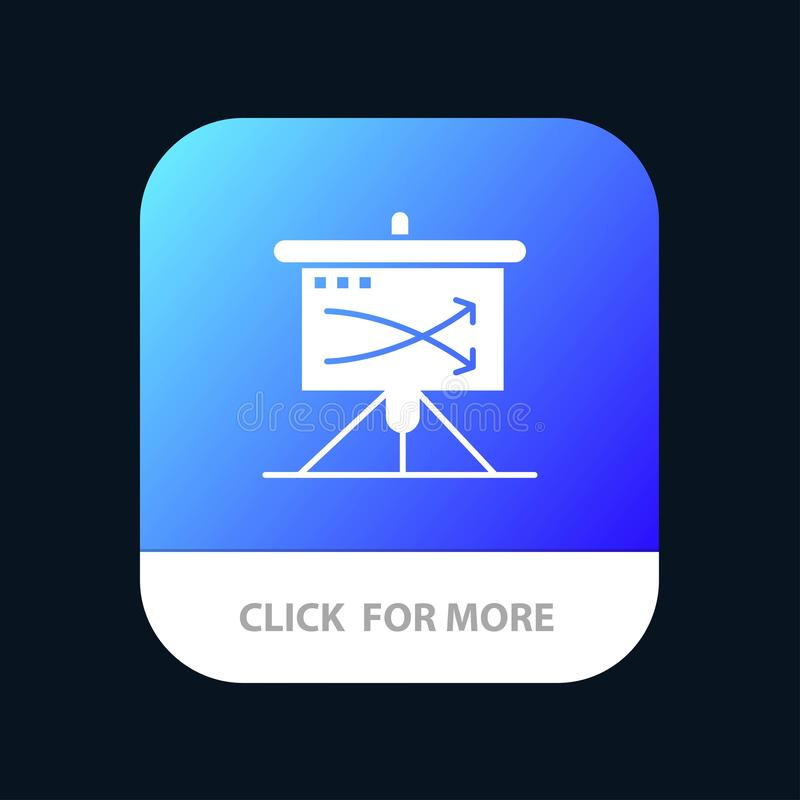Strategic, Business, Plan, Planning, Graph Mobile App Button. Android and IOS Glyph Version stock illustration