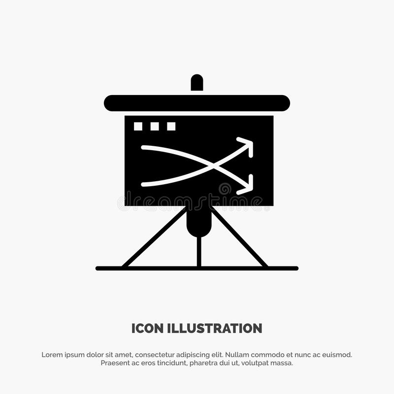 Strategic, Business, Plan, Planning, Graph solid Glyph Icon vector vector illustration