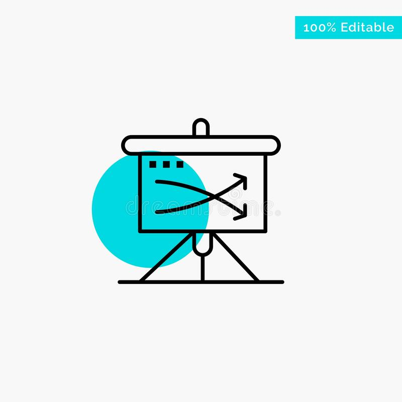 Strategic, Business, Plan, Planning, Graph turquoise highlight circle point Vector icon vector illustration