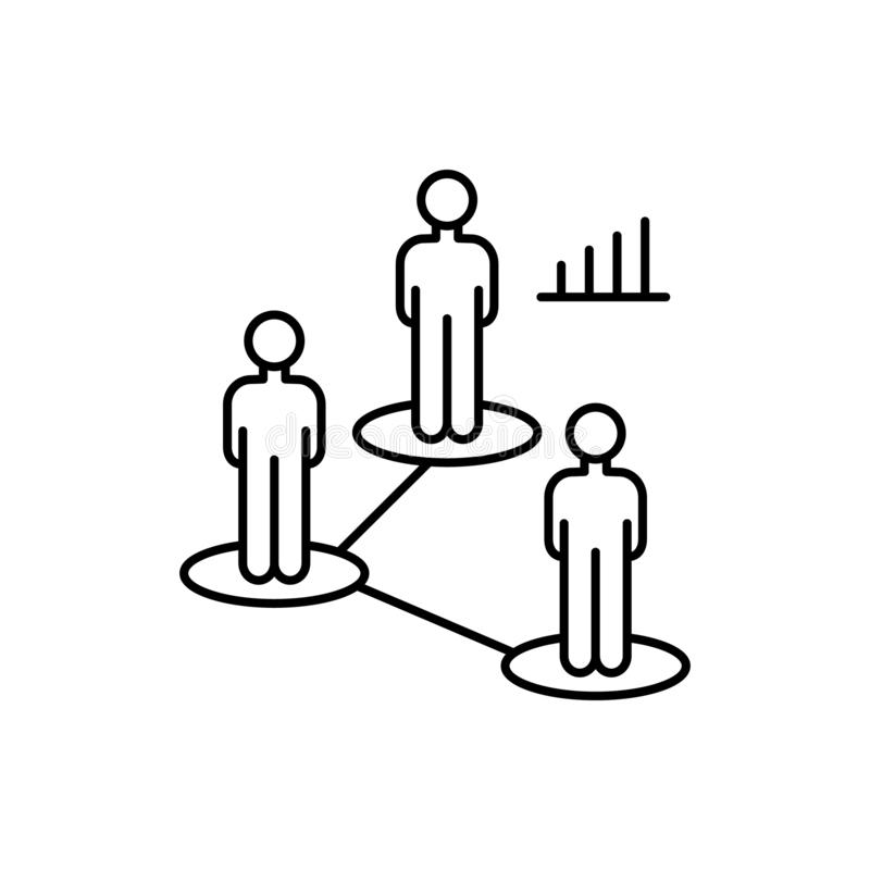 Strategic roadmap plan icon. Element of overpopulation thin line icon. Strategic roadmap plan icon. Element of overpopulation icon on white background royalty free illustration