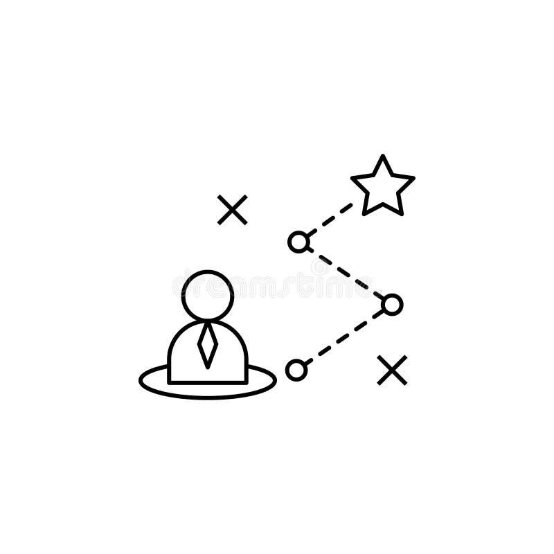 Strategic, roadmap, plan, star icon. Element of life coach icon. On white background stock illustration