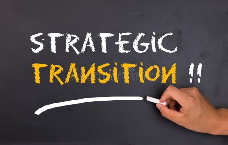 Strategic transition. Concept on chalkboard royalty free stock photo