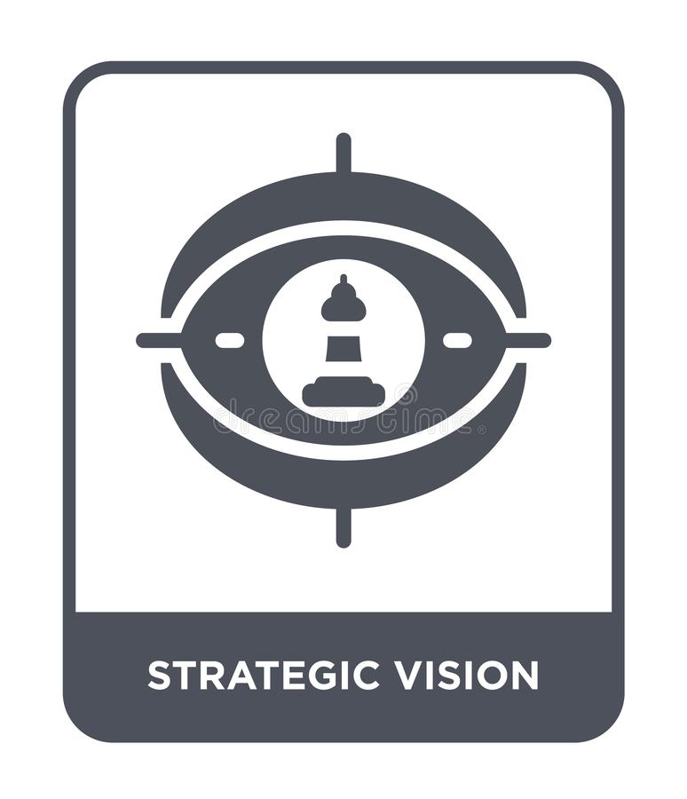 strategic vision icon in trendy design style. strategic vision icon isolated on white background. strategic vision vector icon vector illustration