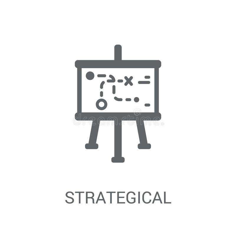 Strategical planowania ikona Modny Strategical planowania logo conc royalty ilustracja