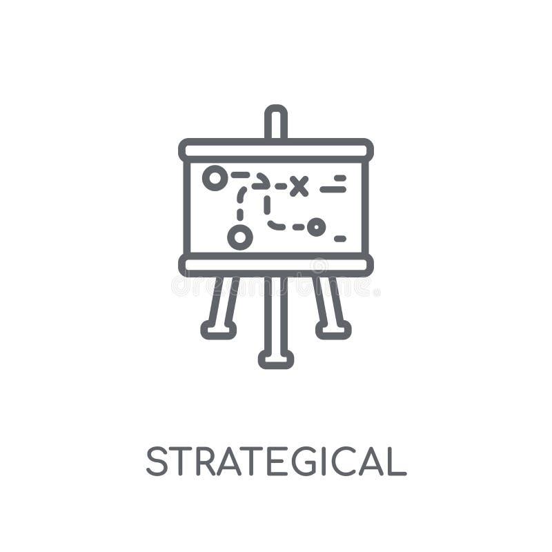 Strategical planowania liniowa ikona Nowożytnego konturu Strategical śliwki ilustracji
