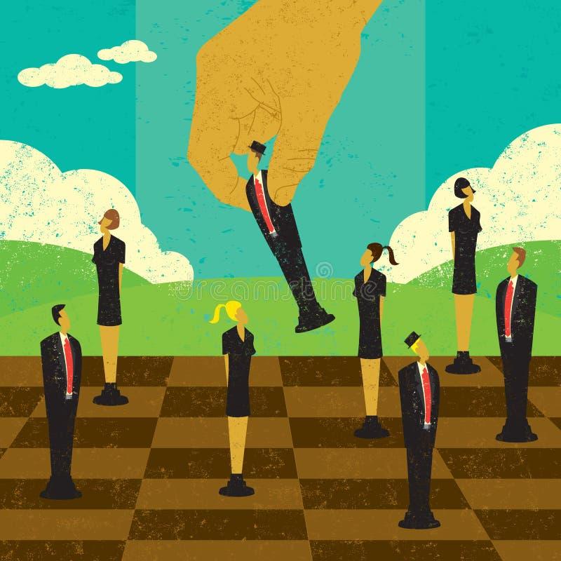 Strategiczne zarządzanie decyzje ilustracja wektor