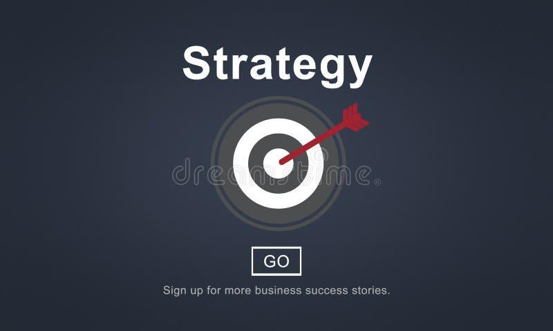 Strategie-Analyse-Auftrag-Ziel-strategisches Konzept stock abbildung