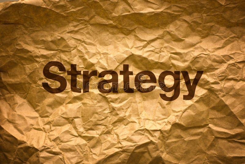 Strategie auf Crumpled Papier lizenzfreie stockfotos