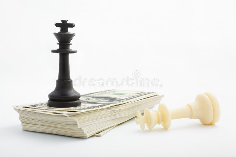 Strategie auf Geld lizenzfreie stockfotografie