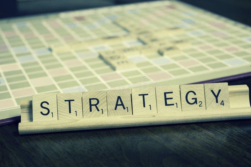 Strategie - Businessplan royalty-vrije stock afbeeldingen