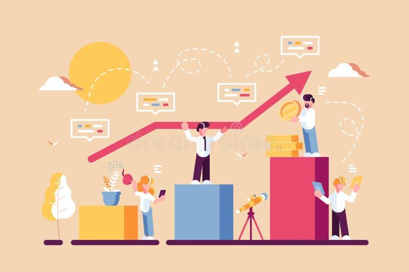 Strategie der langfristigen Planung lizenzfreie abbildung