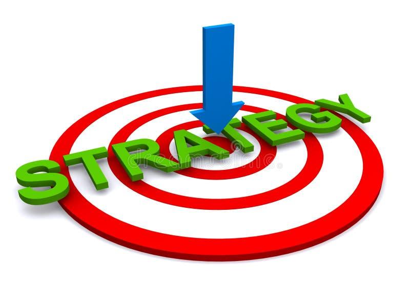 Strategie in der Mitte des Ziels vektor abbildung