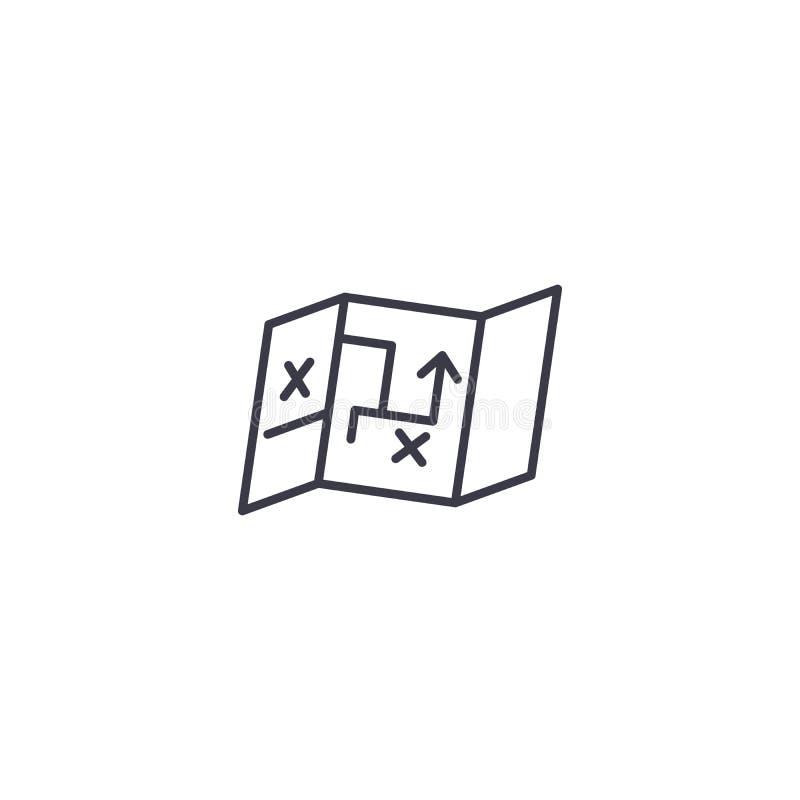 Strategie en tactiek lineair pictogramconcept Strategie en tactieklijn vectorteken, symbool, illustratie royalty-vrije illustratie