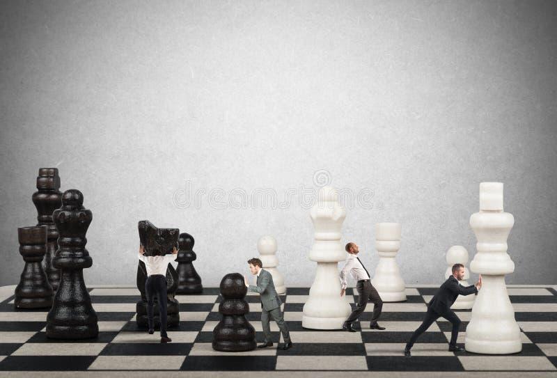 Strategie en tactiek in zaken royalty-vrije stock afbeelding