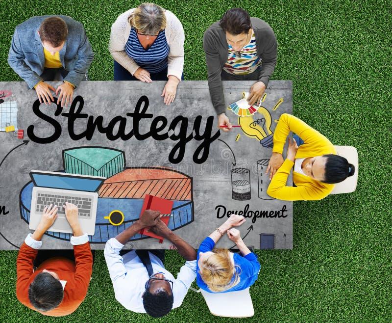 Strategie-Geschäfts-Diagramm-Visions-Entwicklungs-Konzept stockfotos
