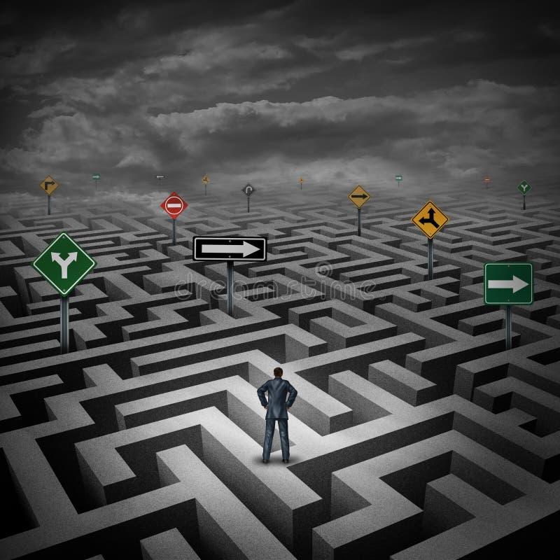 Strategie-Krise lizenzfreie abbildung