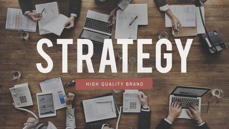 Strategie-Lösungs-Planungs-Geschäftserfolg-Ziel-Konzept lizenzfreie abbildung