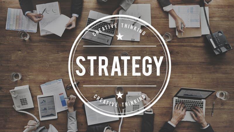 Strategie-Lösungs-Planungs-Geschäftserfolg-Ziel-Konzept lizenzfreie stockfotografie
